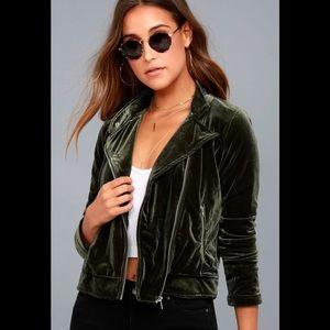 Lulu*s Olive Moto Jacket
